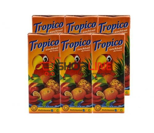 Lot de 6 Jus de fruits Tropico 20cl