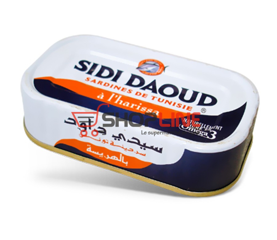Sardines à la tomate Sidi Daoud (120g)