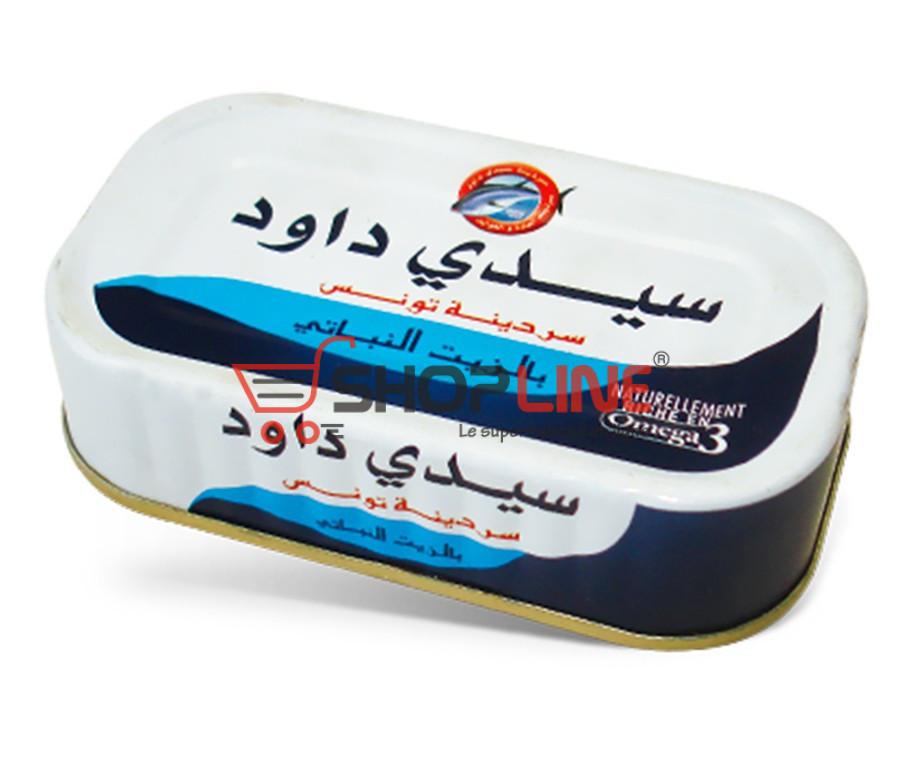 Sardines à l'huile végétale Sidi Daoud (120g)