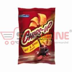 Chips hot et spicy Chips-up Céréalis Paquet de 75g