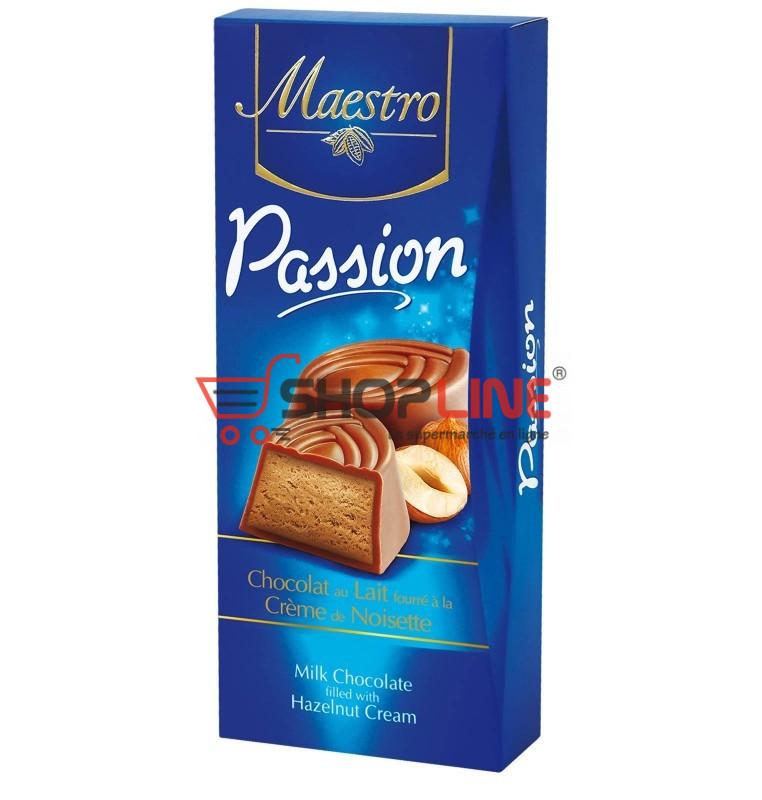 Chocolat au Lait fourré à la crème de Noisette Maestro Passion 6 Pièces