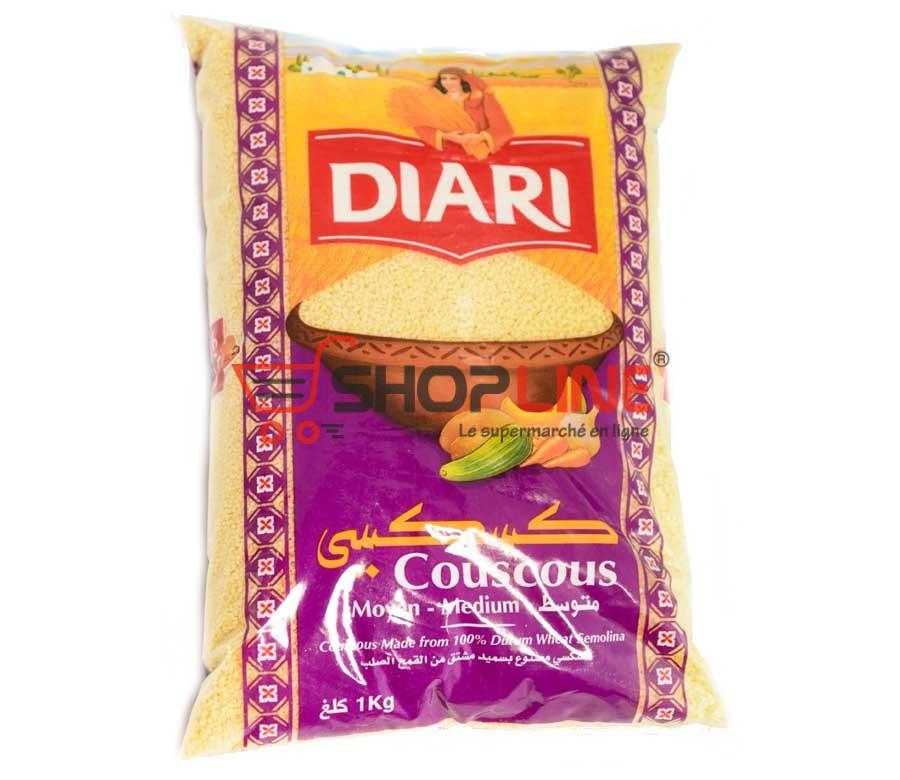 Couscous moyen Diari Paquet de 1kg