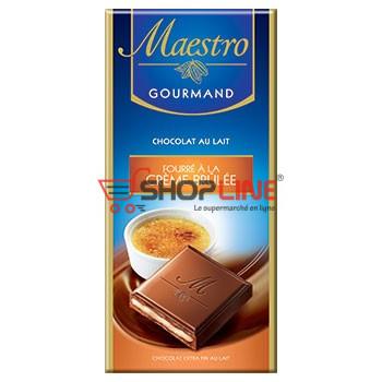 Chocolat Extra fin au lait fourré à la Crème brûlée Maestro Gourmand 100g