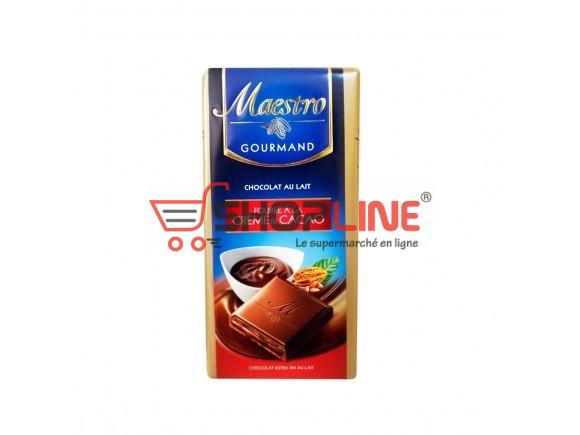 Chocolat Extra fin au lait fourré à la Crème de Cacao Maestro Gourmand 100g