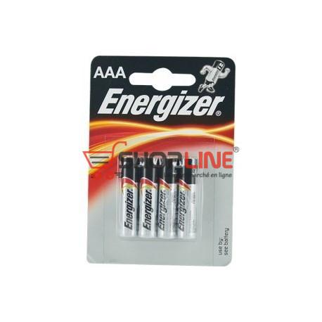 Pack de 4 piles Energizer AAA