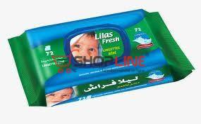 72 Lingettes Bébé Lilas Fresh